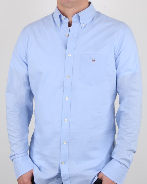 GANT SHIRTS gant broadcloth shirt hamptons blue YBFBLLN