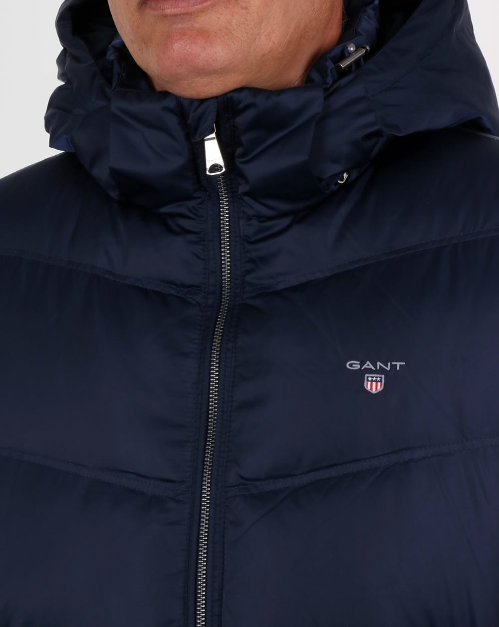 Gant Winter Jackets gant down filled padded jacket marine blue VBQYWMS