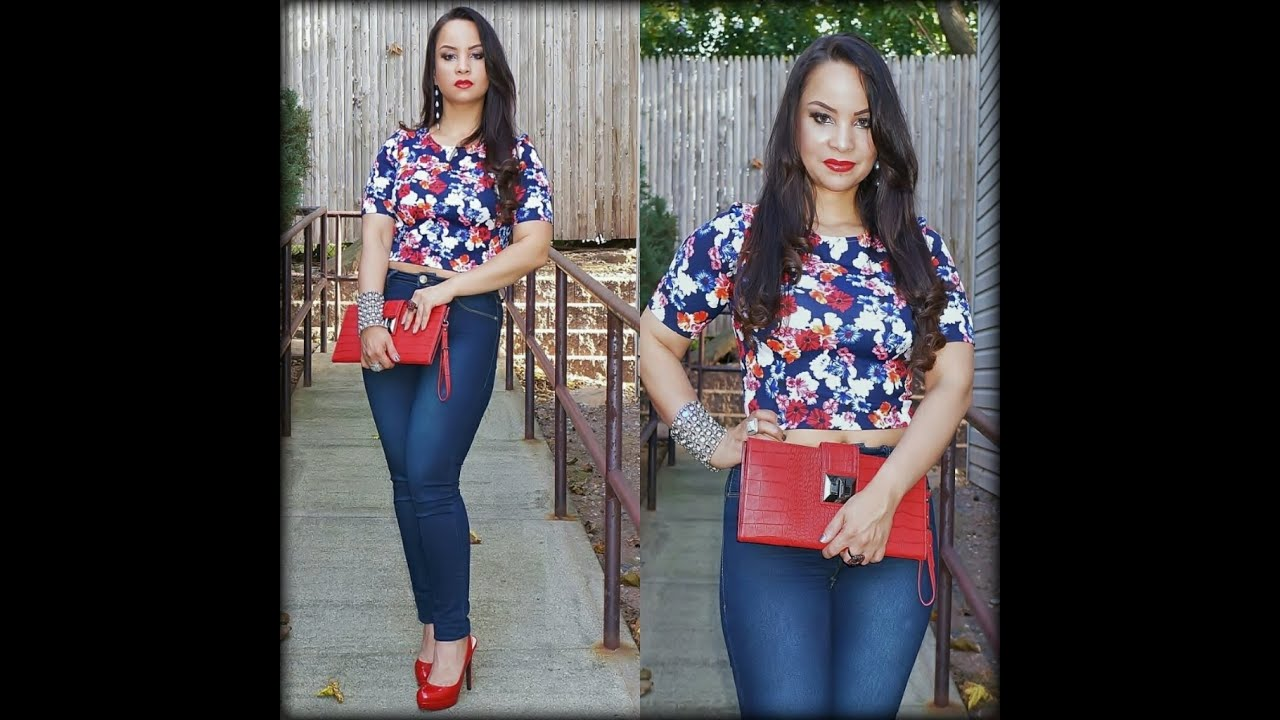 high waist jeans with crop top high waisted jeans outfit with crop top * stylo 150♥ - youtube MMXGBXU