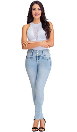 high waist jeans with crop top lowla women fashion butt lifter stretch skinny ankle high rise shaper jeans  pantalones colombianos talle DWFQXTS