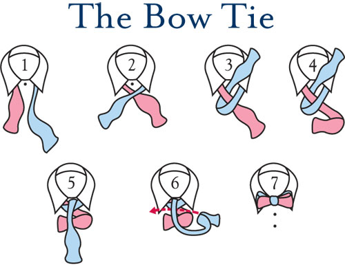 How to tie a bow tie adjust your tie so that the left side is slightly longer (blue) than the  right QRMRYGE