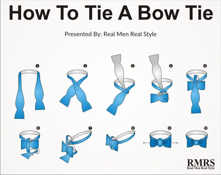 How to tie a bow tie how to tie a bow tie - step by step NKHTMQW