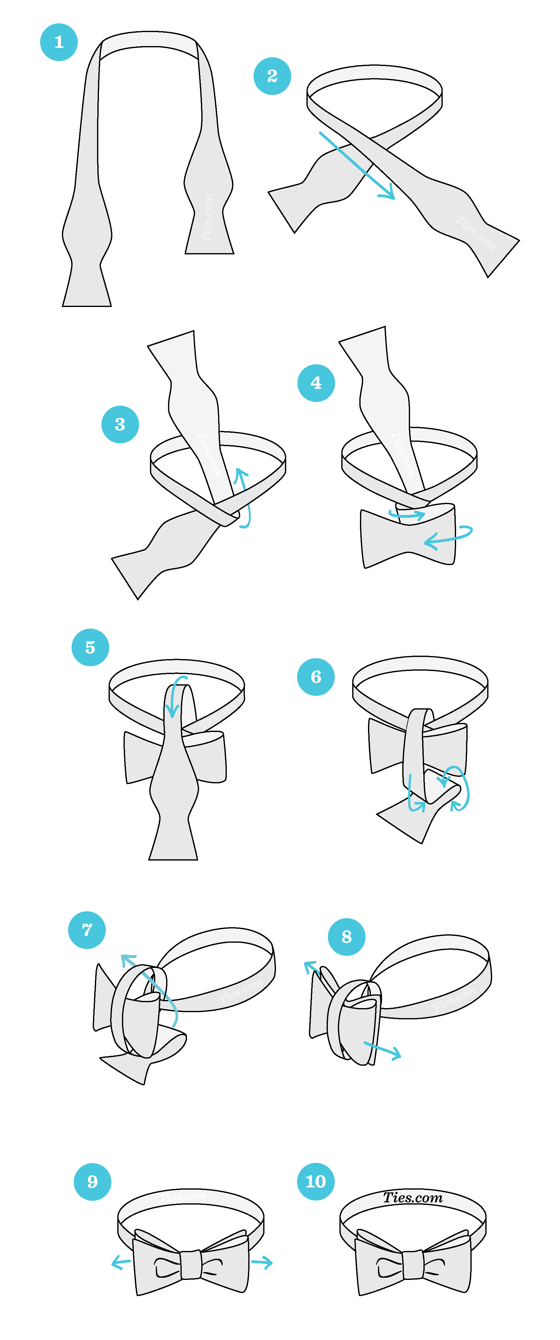 How to tie a bow tie start with the bowtie lying face up. adjust the bowtie so right side is  shorter CNPKOTX