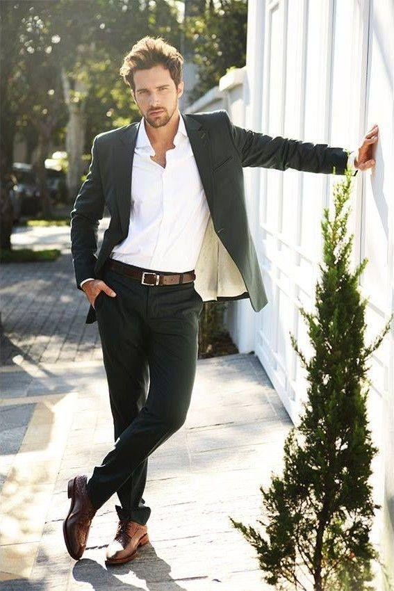 how to wear brown shoes with black pants for men (1) DWYZGHG