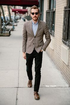 how to wear brown shoes with black pants for men (10) QZJESVE