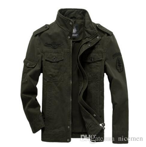 JACKETS IN SIZE 4XL men military army jackets plus size 4xl hot cost outerwear embroidery mens  jacket PWMKGNU