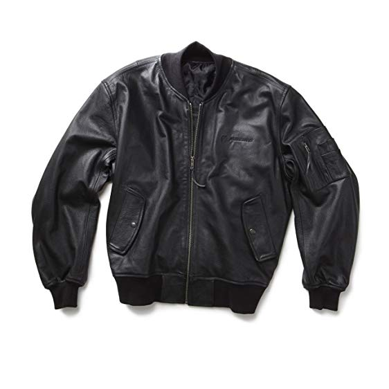 JACKETS IN SIZE XXXL ma-1 leather flight jacket - 2x-3x; color: black; size SBPQBFM