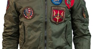 Jackets with Patches ... top gun® ma-1 nylon bomber jacket with patches ... WVUKWWB
