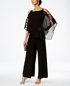 Jumpsuits for women msk embellished chiffon-overlay jumpsuit OCLIBFT