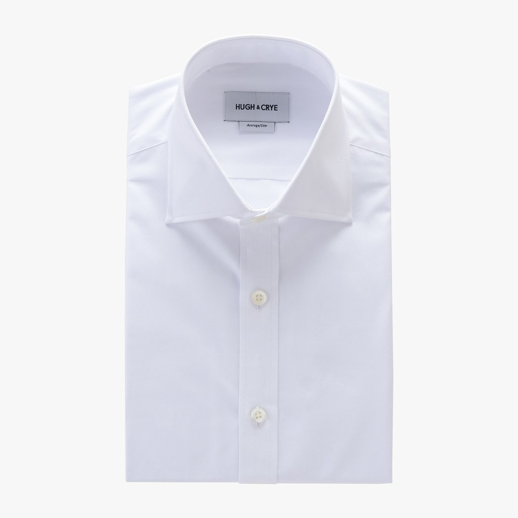 Kent Collar Shirt hugh u0026 crye size chart tall spread collar shirt in white solid 120s poplin LCRAHRK