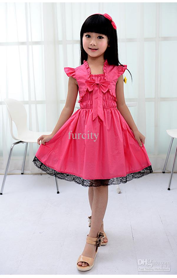 Kids Girls Clothing 2018 ruby rox kids girls bow dress watermelon medium korea version princess  skirts MWNZMEK