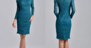 Knee length long dresses for the mother of the bride knee length mother of the bride groom dresses 2017 teal blue lace scoop  neck with UCCMCVY