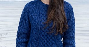 Knitted sweaters handknit new wool honeycomb stitch aran sweater - nightshade DSNQXFL
