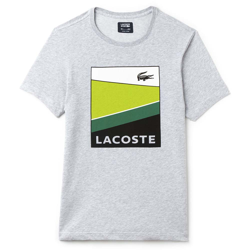 LACOSTE T-SHIRTS lacoste colorblock print jersey tennis t-shirt UWQSVCA