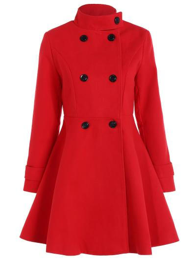 Ladies Frock coat double breasted coat with skirted trim TWQUFCS