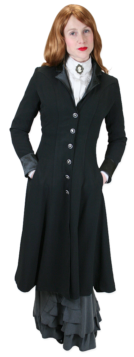 Ladies Frock coat vintage ladies black notch collar frock coat | romantic | old fashioned |  traditional | SEYISWP