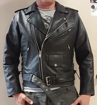 leather jackets black leather biker jacket with side lacing u0026 zip out liner. » SDSCQPQ