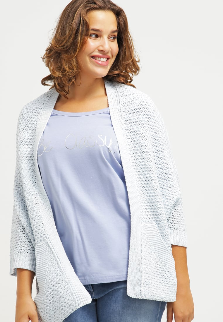 Light Blue Cardigans triangle cardigan - blue melange women sale clothing jumpers u0026 cardigans  light HVPVTAW