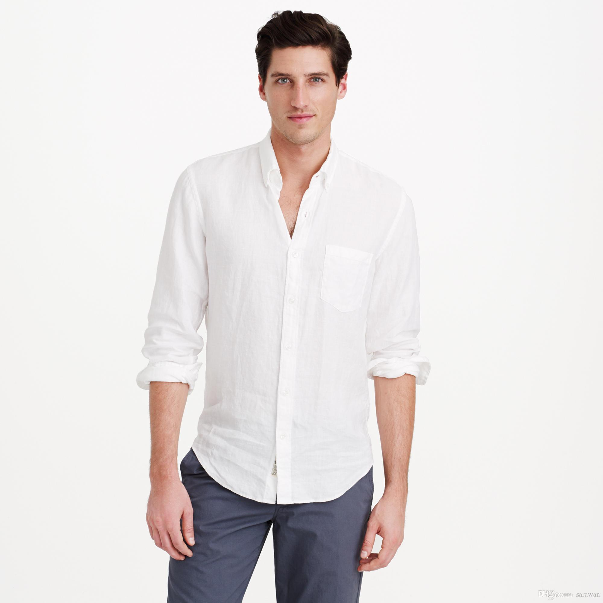 linen shirt mens 2018 white linen shirts men linen shirt tailor made,custom mens white linen  shirts for men HLLYCWW