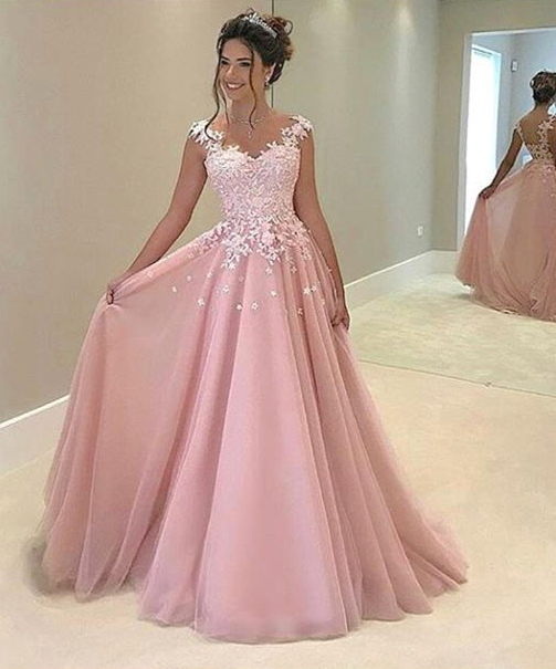 Long ball gowns are the dream of many women