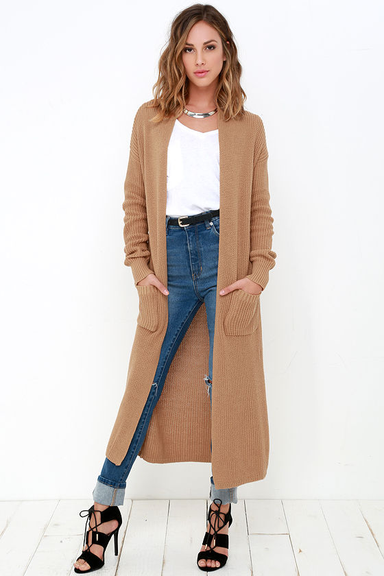 Long Cardigan portrait gallery tan long cardigan sweater SISPYKJ