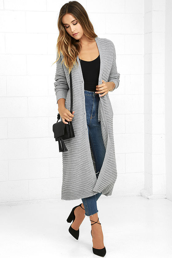 Long Cardigan the fifth label game changer grey long cardigan sweater WCVYPOF