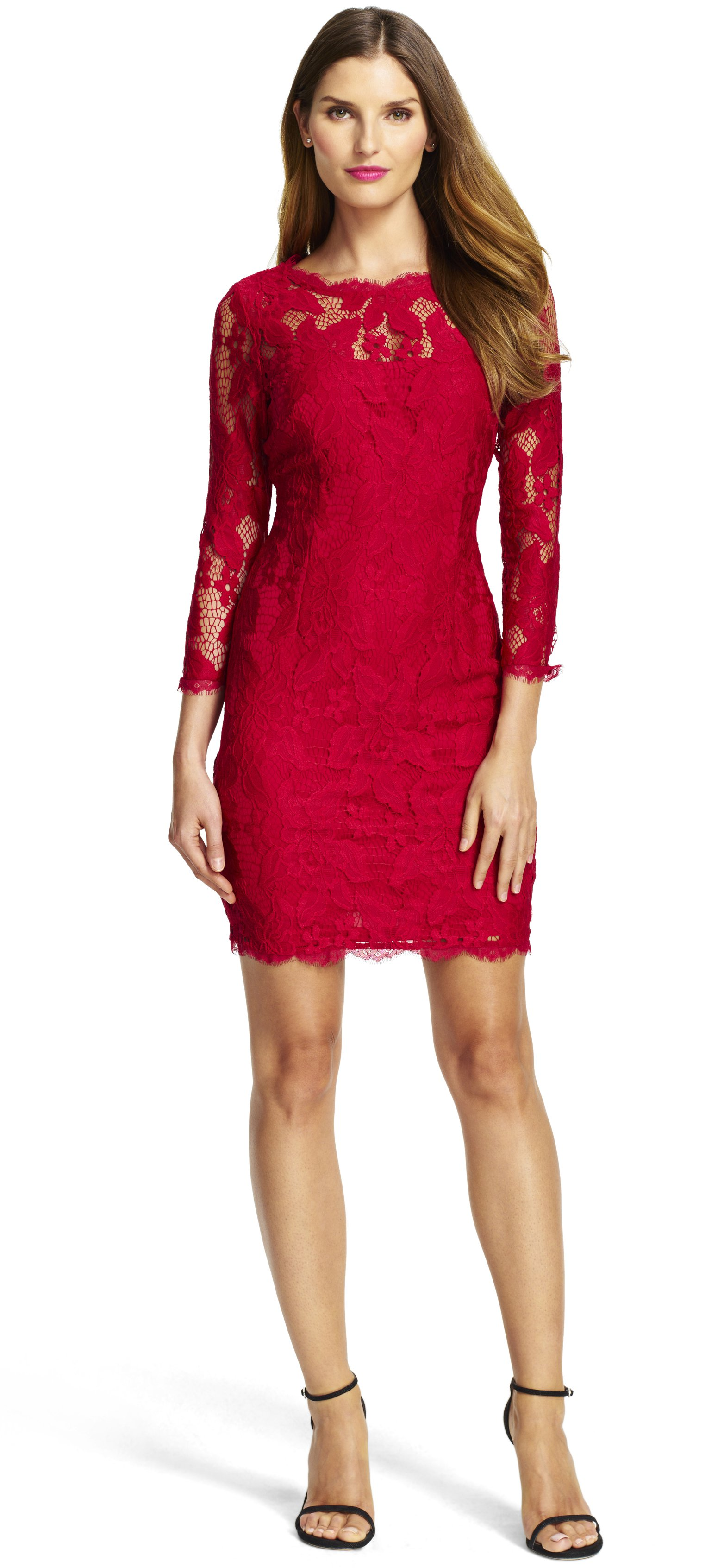 LONG SLEEVED COCKTAIL DRESSES long sleeve lace cocktail dress with illusion neck ... MLPZMBD