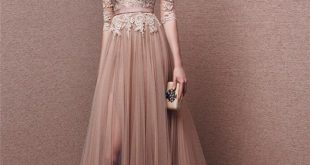 Long sleeved evening dresses nude and blush gowns in 2018   prom night   pinterest   dresses, prom RLJZQIV