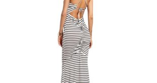 LONG SUMMER DRESSES shein sexy long summer dresses for women casual ladies spaghetti strap  white striped CVYVYGY