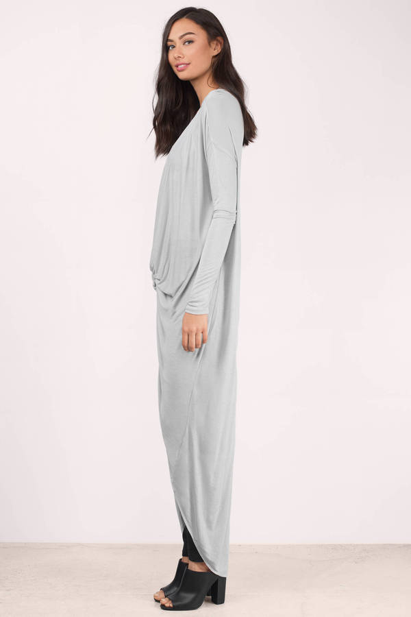 Long tunic ... get it twisted grey tunic top ... FVBLQKB