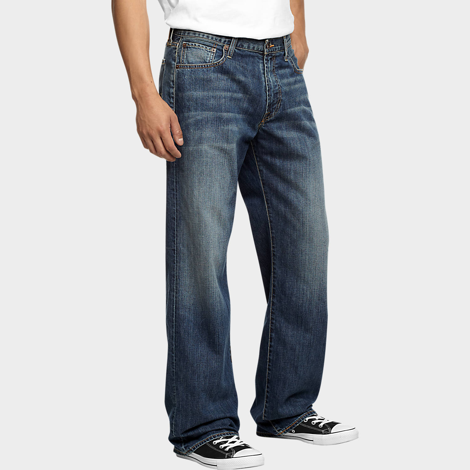 Loose Fit Jeans for Men lucky brand 181 medium wash relaxed fit jeans DHHVQTA