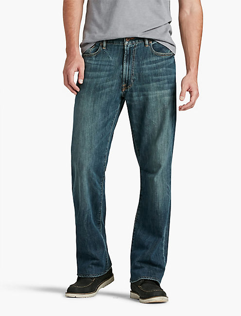Loose Fit Jeans for Men ... mahogany 181 relaxed straight jean, ... HUTTXCR