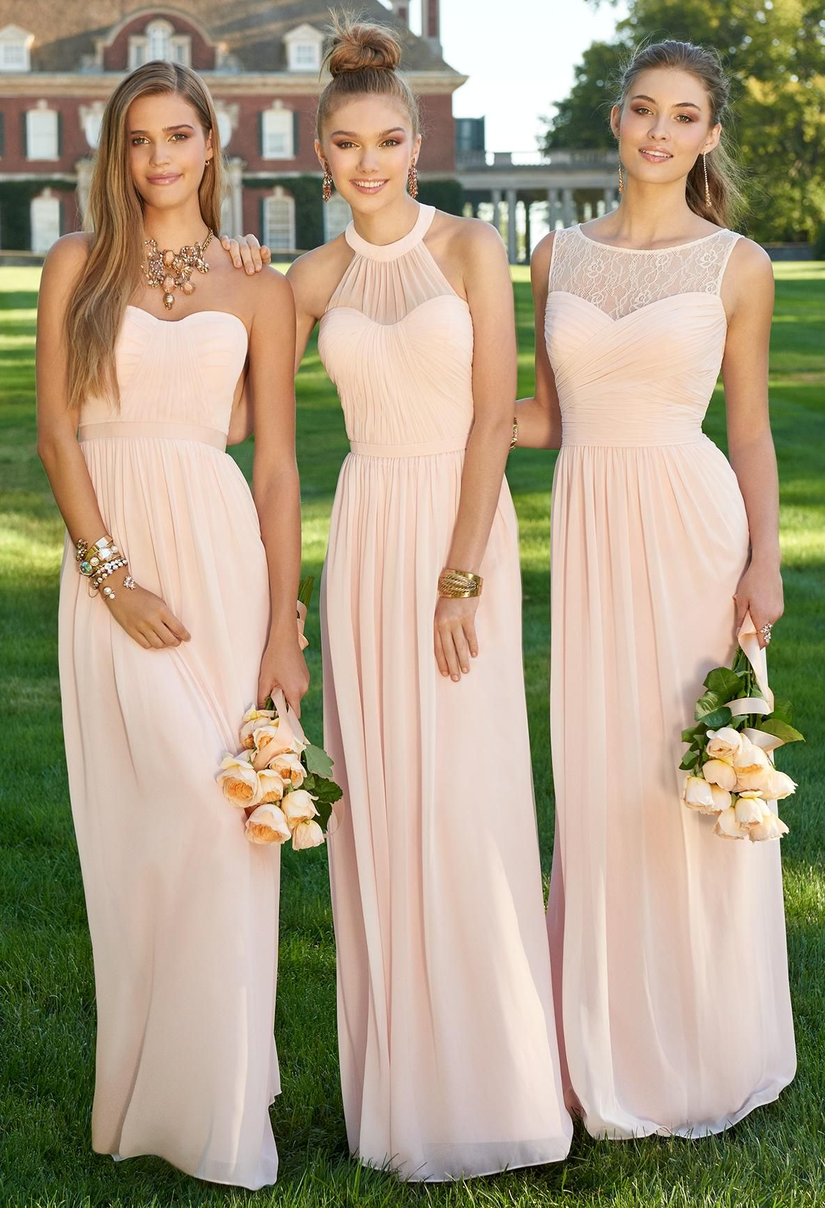 Maid of Honor Dresses par el matriiiii más peach dress bridesmaid, wedding dresses for bridesmaids,  different bridesmaid dresses TJYTVUF