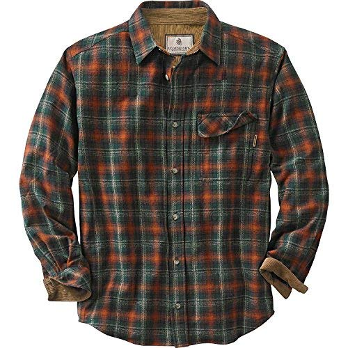 Men's Flannel Shirts legendary whitetails buck camp flannels redwood plaid large WBGJYVX