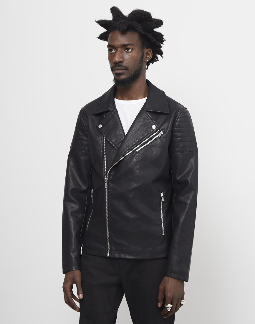 Mens Biker Jackets the idle man faux leather biker jacket at the idle man ZQZOLZP
