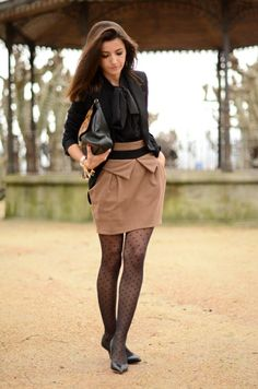 patterned tights outfit fall outfits 29 stylish and edgy work outfits OFUORCS