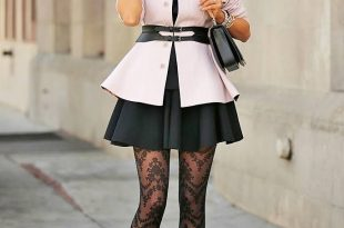 patterned tights outfit keep an eye one these patterned jacquard tights styled with a black flared  mini dress VHMLDHR