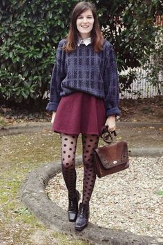 patterned tights outfit patterned tights + patterned jumper. TORFVYK