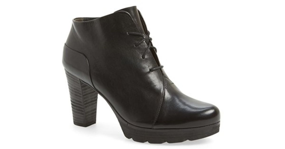 Paul Green Ankle BOOTS lyst - paul green fiona leather ankle boots in black ZFAWVVG