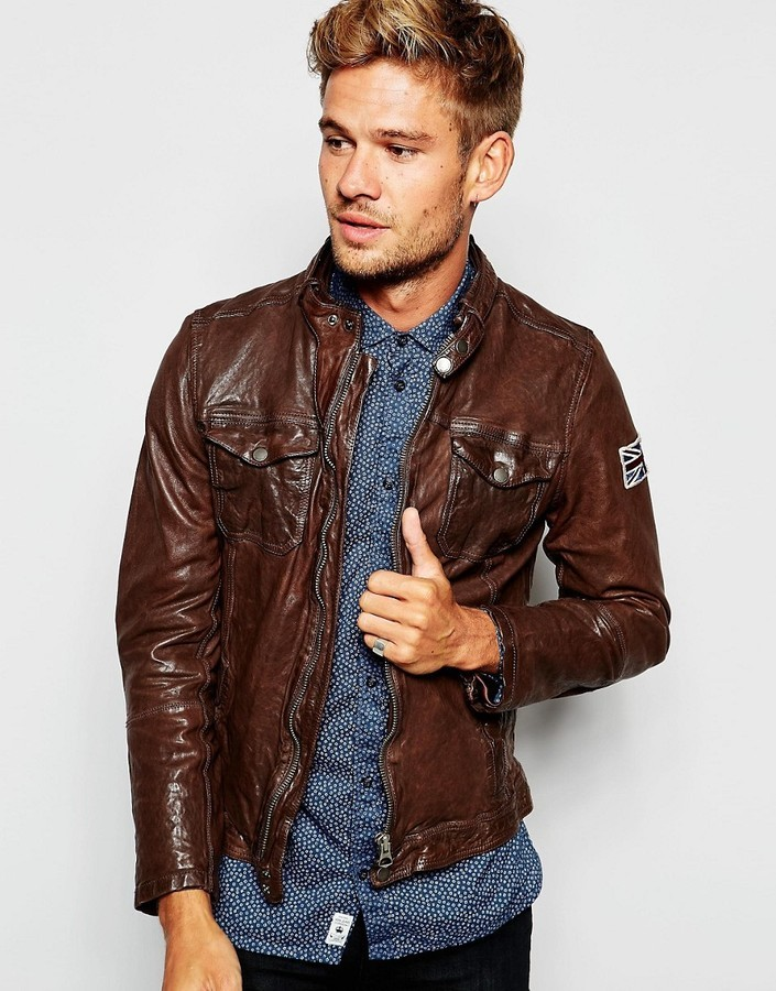 PEPE JEANS JACKET ... pepe jeans pepe leather biker jacket guzzi zip thru ... JXEDORY