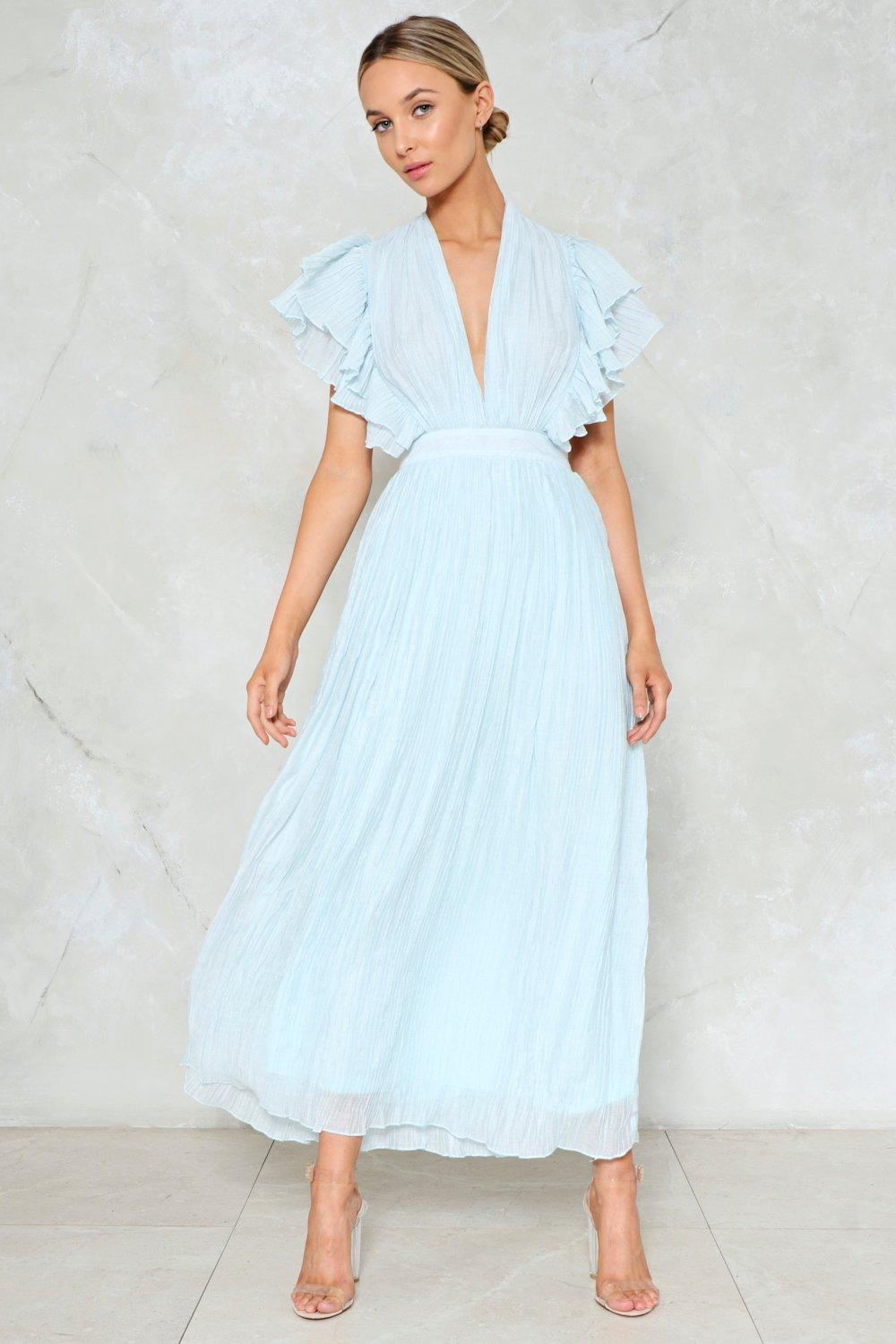Pleated dress the pleat is on maxi dress YOIUAHM