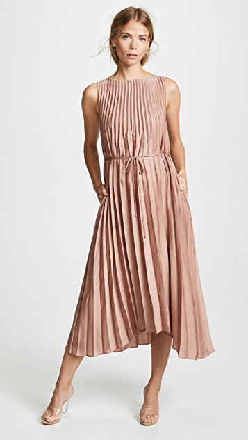 Pleated dress vince pleated dress ... WNBWQVQ