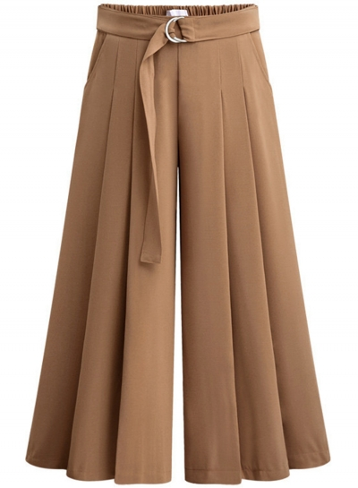 pleated pants for women women-s-fashion-tie-waist-wide-leg-pleated- ZEQJGWS