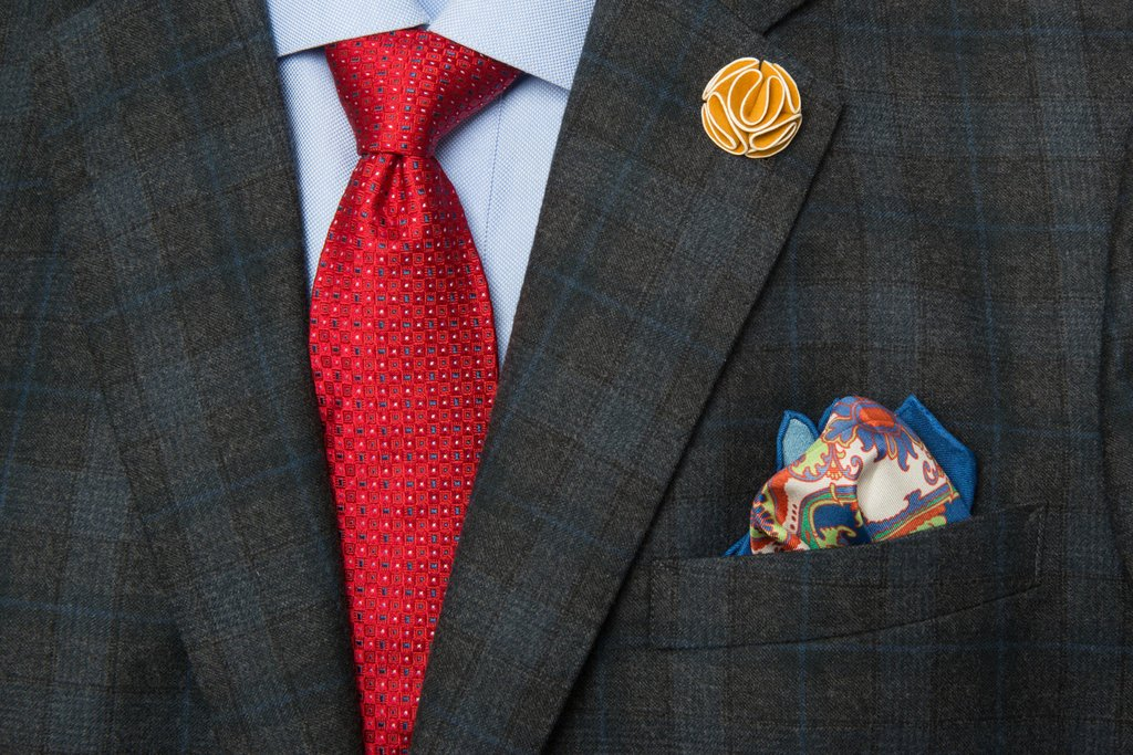 Pocket Squares three ties, pocket squares and lapel flowers starter kit - the dark knot XRFTJZI