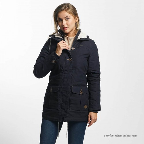 Ragwear Women's Jackets ragwear women winter jacket jane in blue 1721600262028 - cs8gfniix UJQAMYN