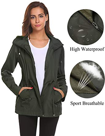 Rain Jacket for Women romanstii shell jackets women waterproof,sports running light rain coat  outdoor breathable SBTXDKS
