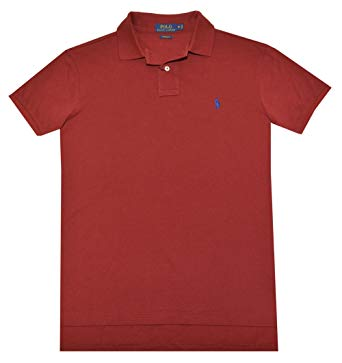 RALPH LAUREN MEN'S SHIRTS polo ralph lauren men custom fit mesh polo shirt (small, red) ZZRAONP