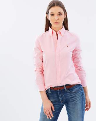 RALPH LAUREN SHIRTS FOR WOMEN at the iconic polo ralph lauren slim fit cotton oxford shirt GUCUCUD