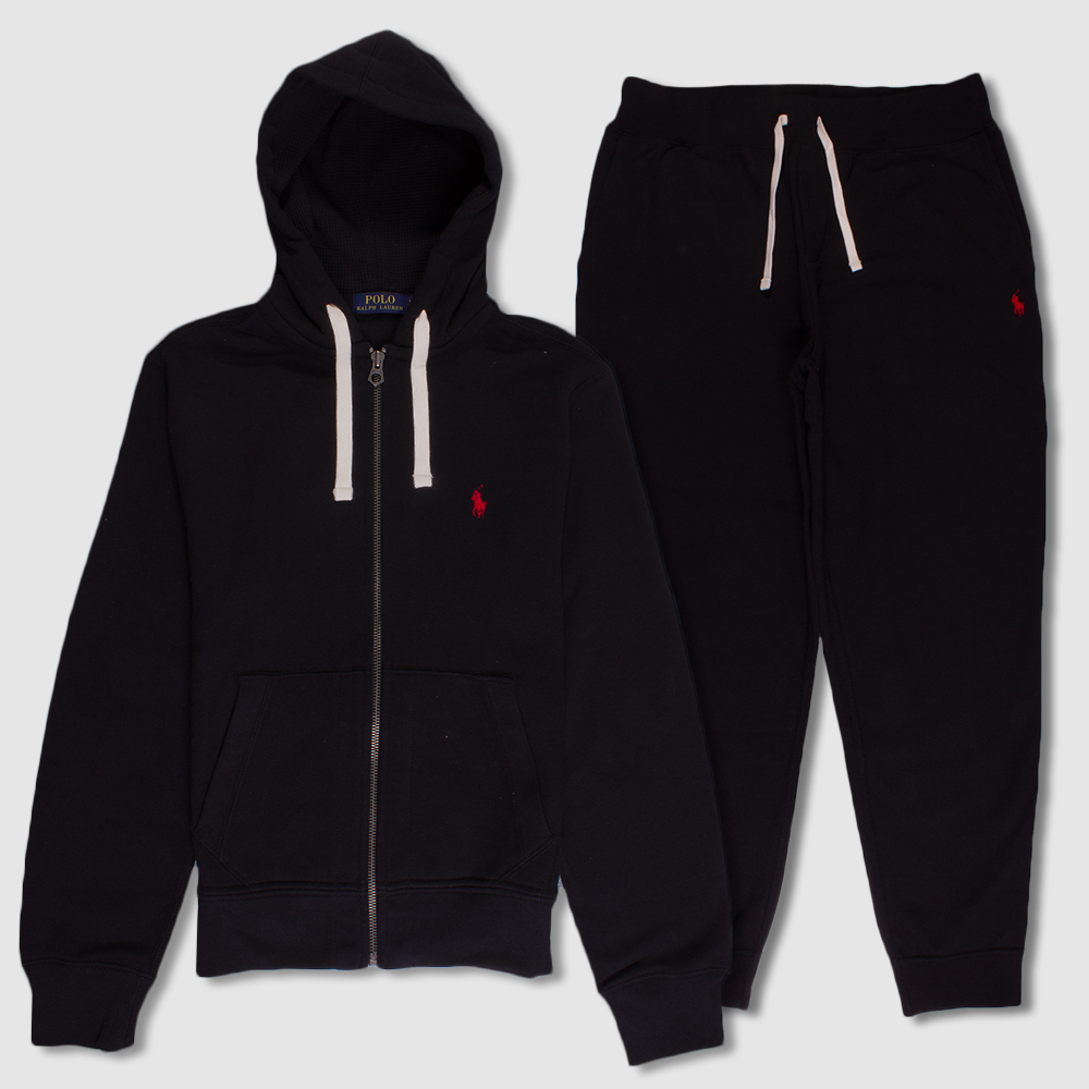 Ralph Lauren Tracksuits ... ralph lauren black slim fleece tracksuit. previous RUEXDXH