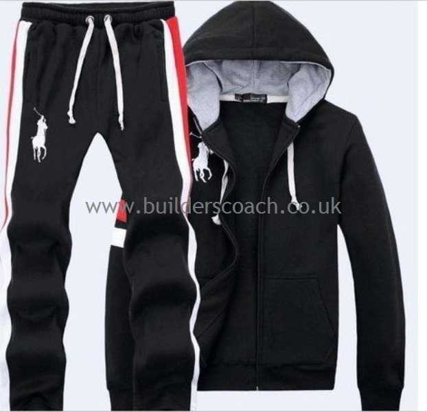Ralph Lauren Tracksuits (ralph lauren shirt) sports track suit by ralph lauren * coal black - mens NBWQRTA